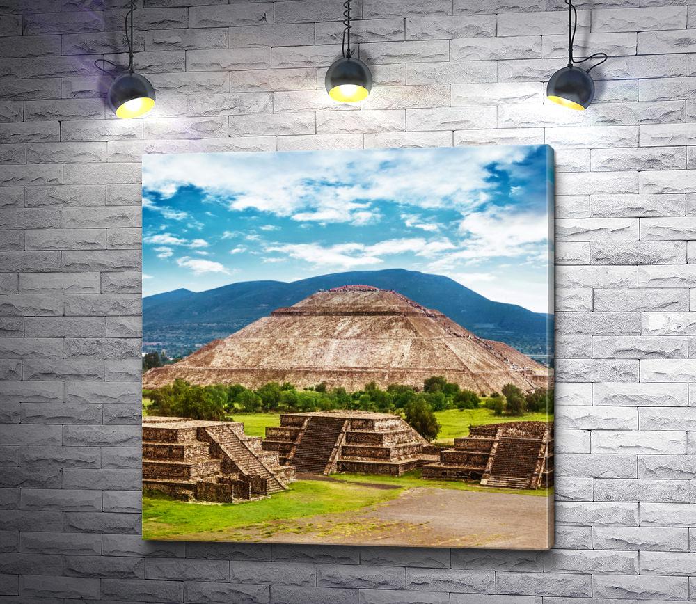 """Картина """"Секреты Пирамид Солнца"""""""