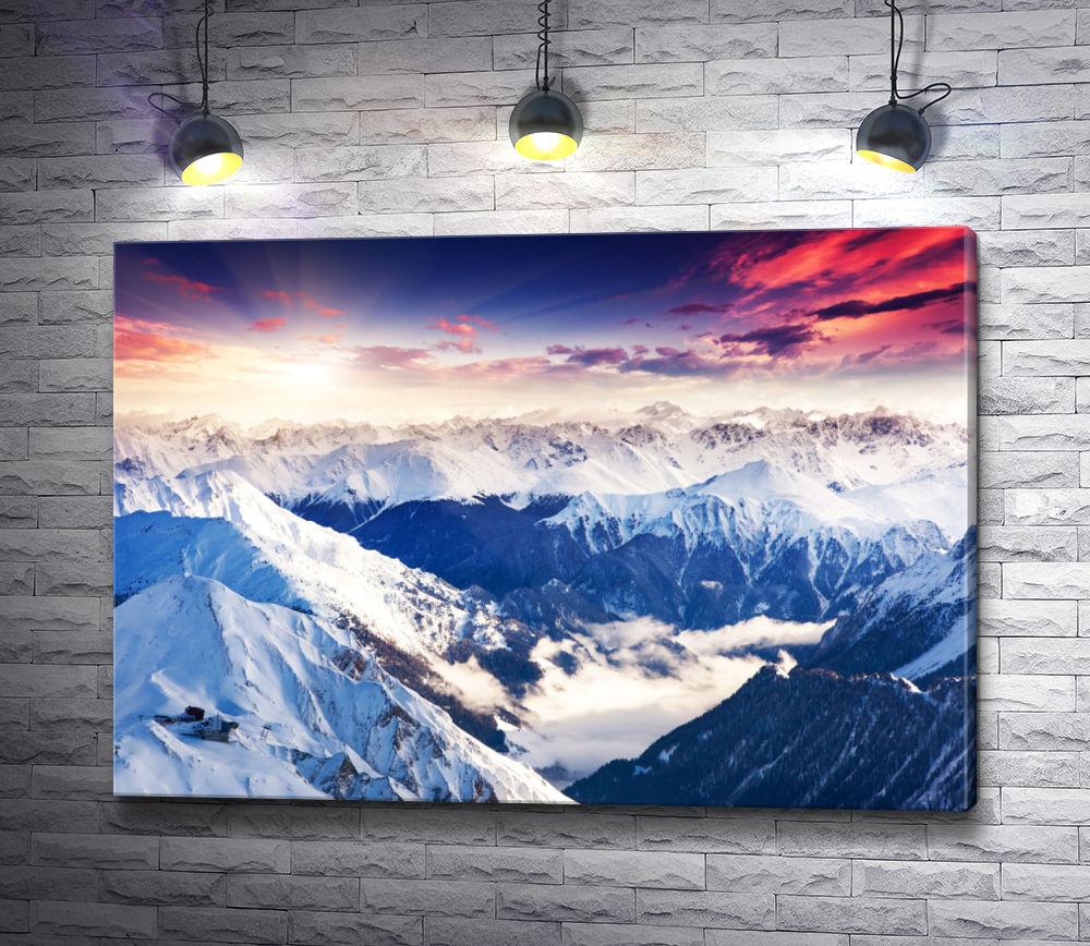 """Картина """"Могущественные вершины гор"""""""