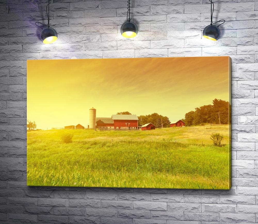"""Картина """"Красивый дом на природе"""""""