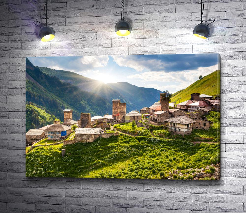"""Картина """"Солнце над Грузией"""""""
