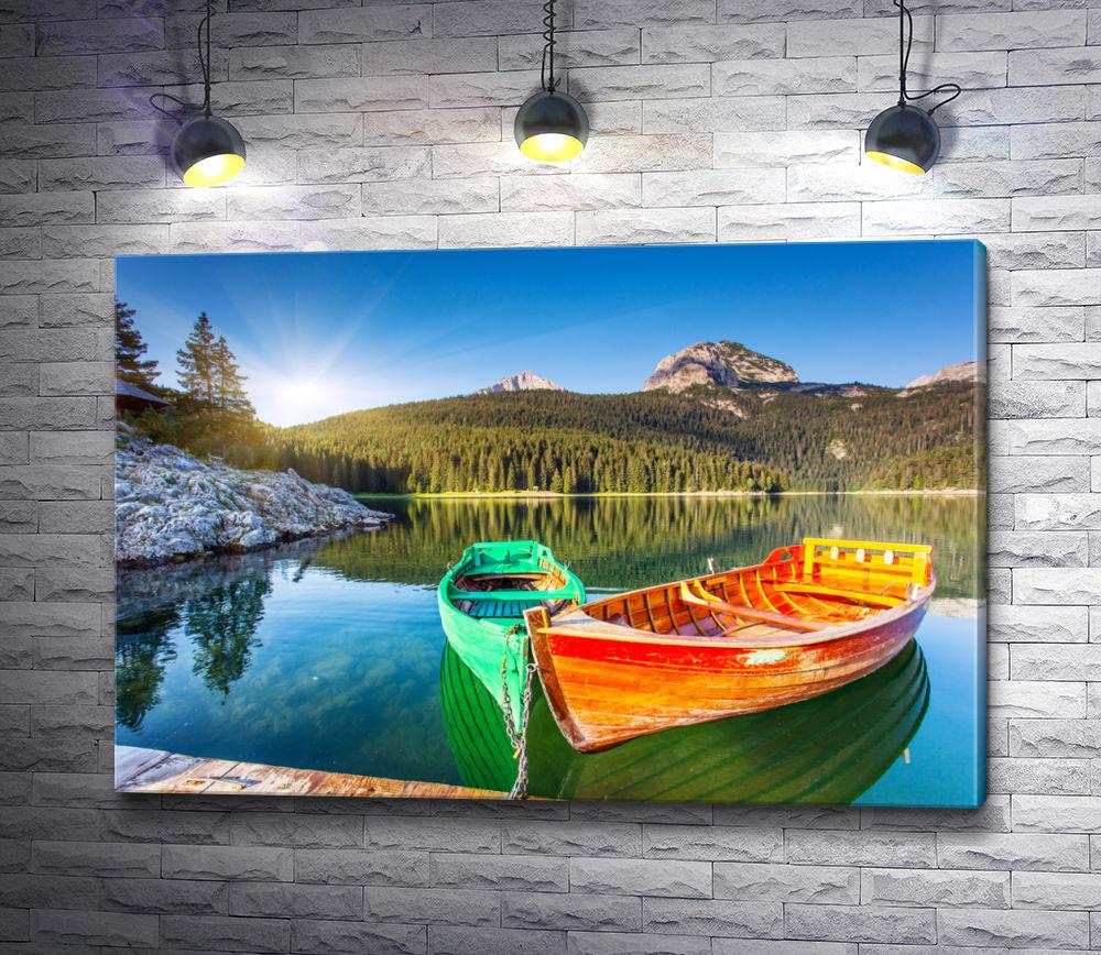 """Картина """"Яркие лодки"""""""