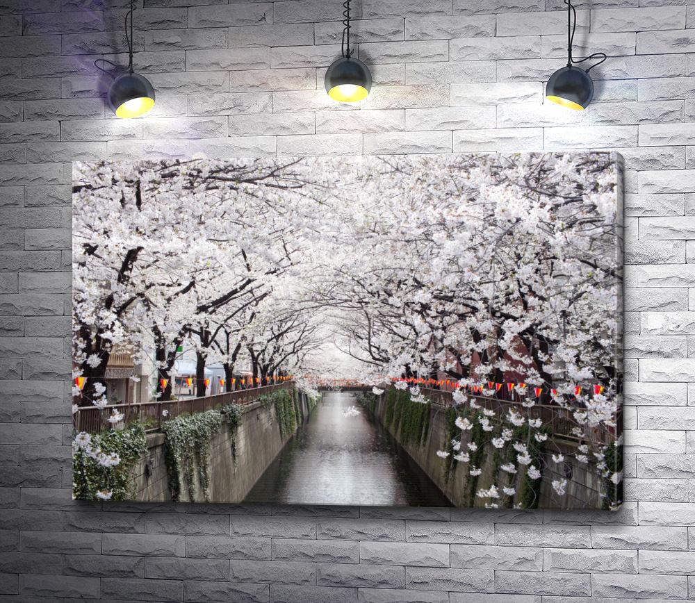 """Картина """"Ароматное цветение сакуры возле воды"""""""