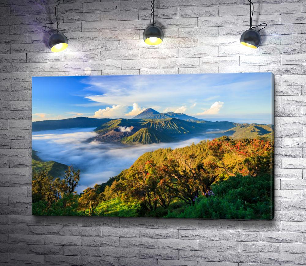 """Картина """"Индонезийский вулкан"""""""