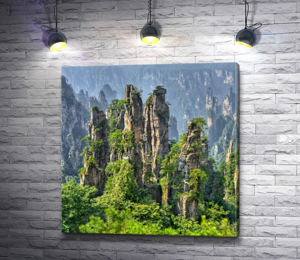 """Картина """"Вершины Чжанцзяцзе"""""""