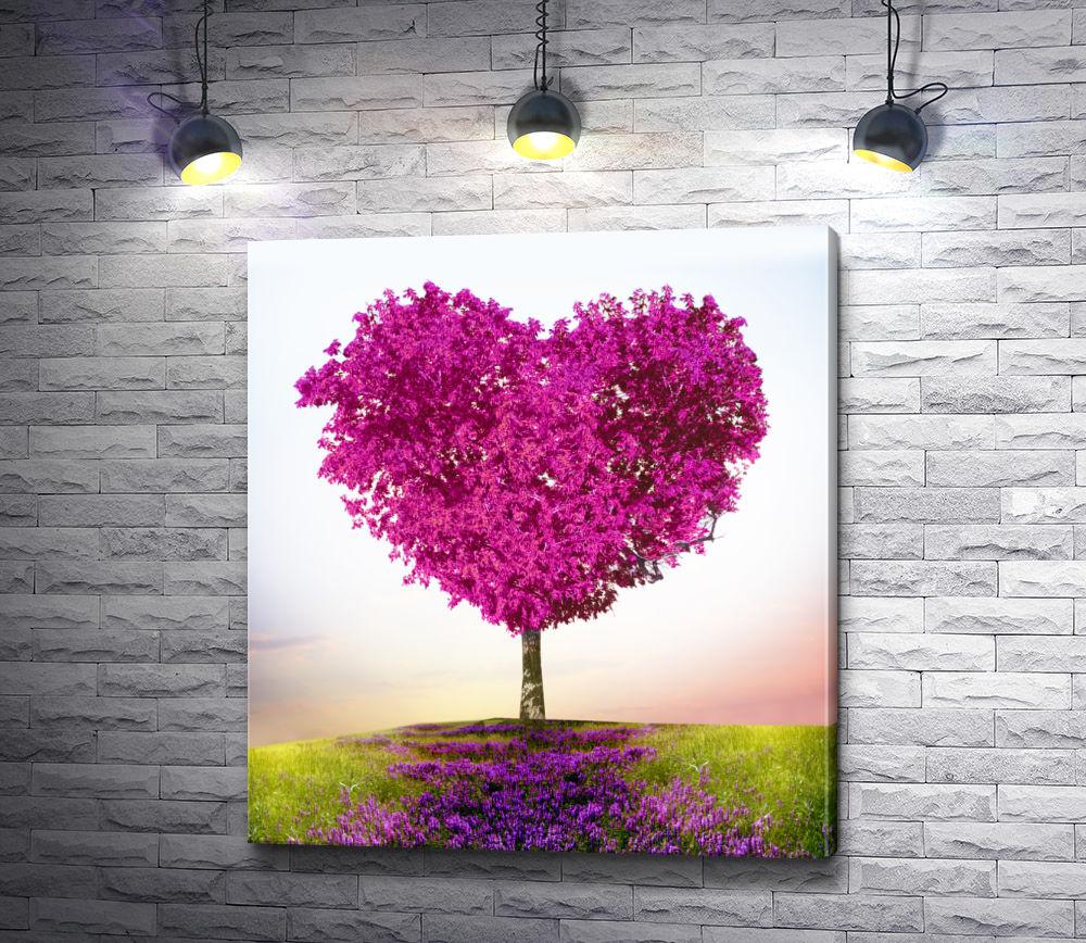 "Картина ""Дерево в форме сердца"""