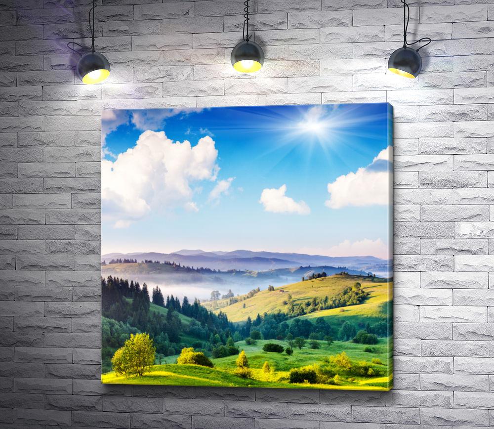 """Картина """"Солнечный день в горах"""""""