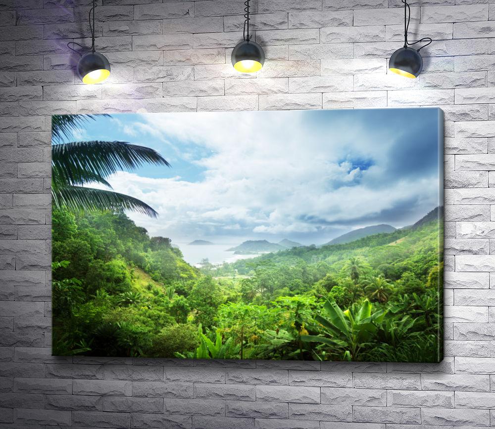 """Картина """"Пальмы и океан"""""""