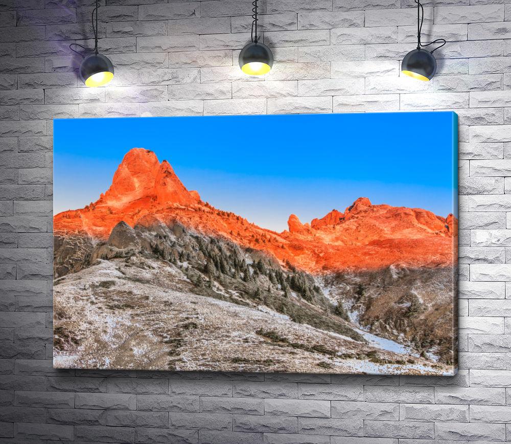 """Картина """"Вершины окутанные солнцем"""""""