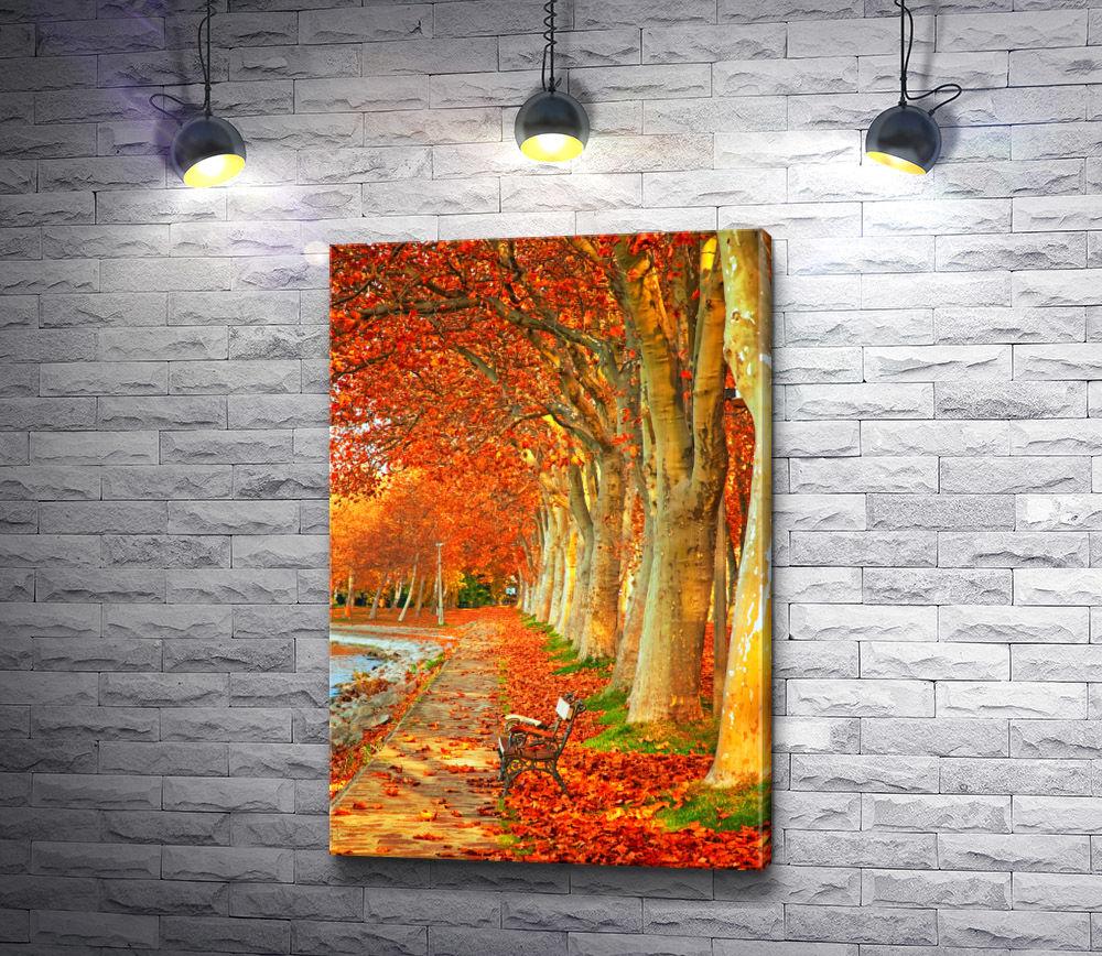 """Картина """"Деревья покрылись яркими красками"""""""