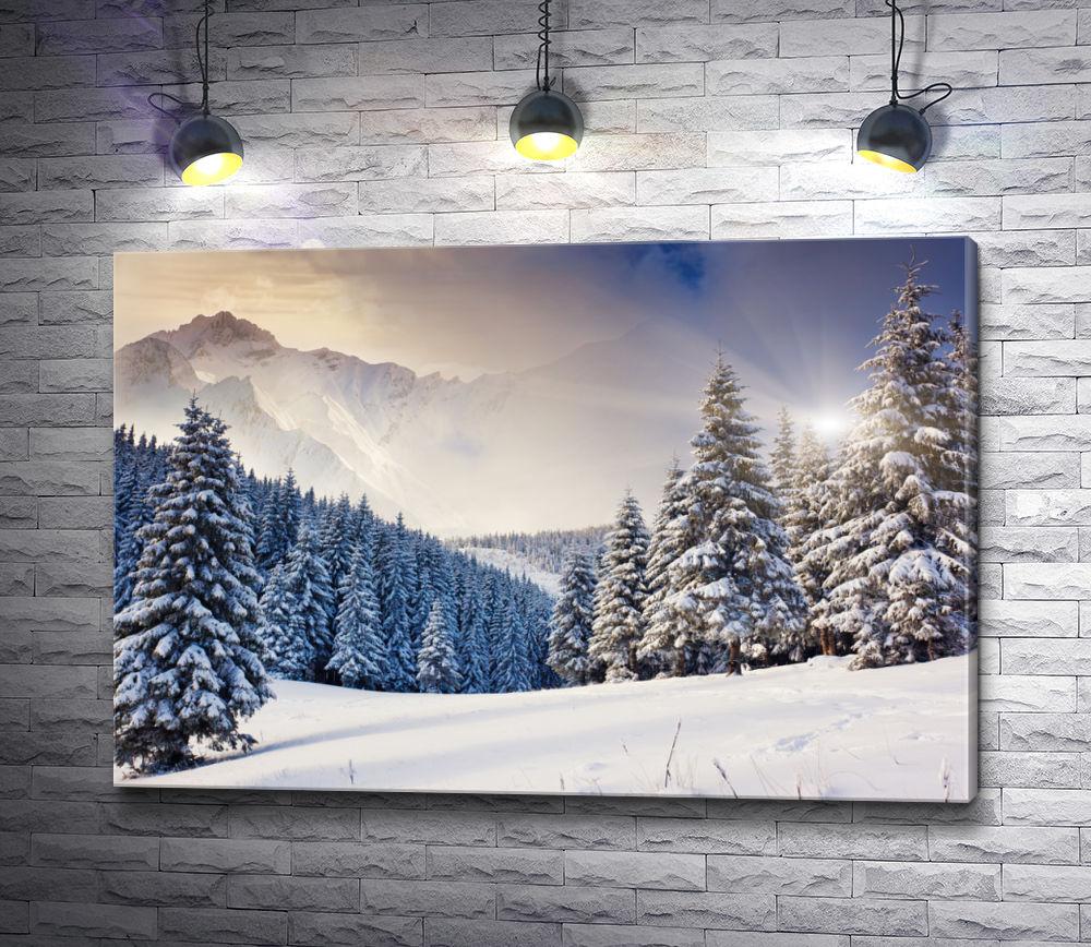 """Картина """"Елочки в снегу"""""""