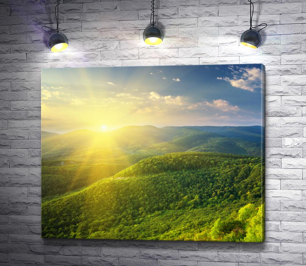 "Картина ""Солнце над горами"""
