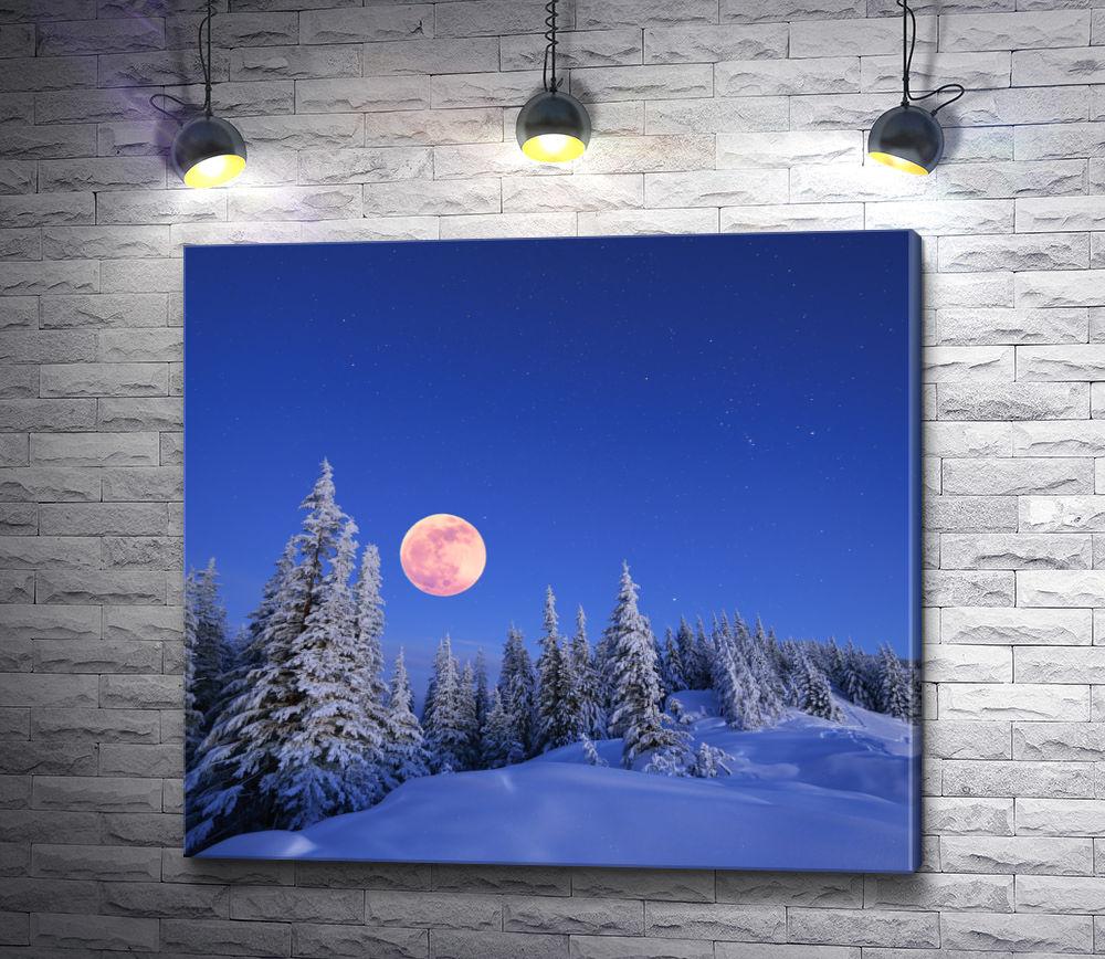"""Картина """"Полнолуние зимой"""""""