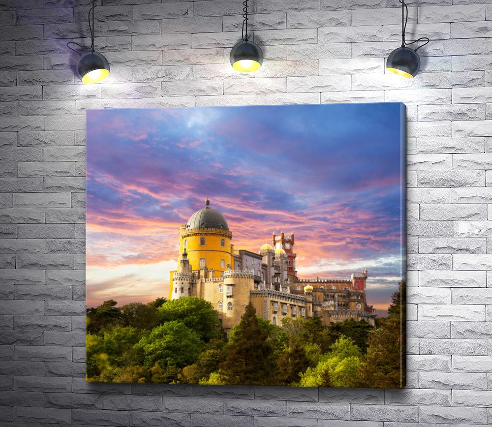 """Картина """"Дворец Пена и прекрасное небо"""""""