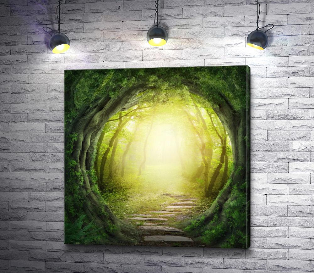 """Картина """"Тропинка между деревьев"""""""