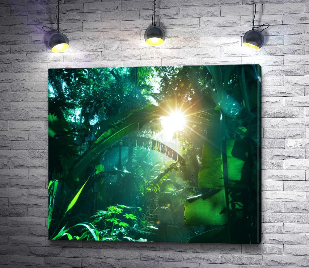 """Картина """"Солнце греет зеленую листву"""""""