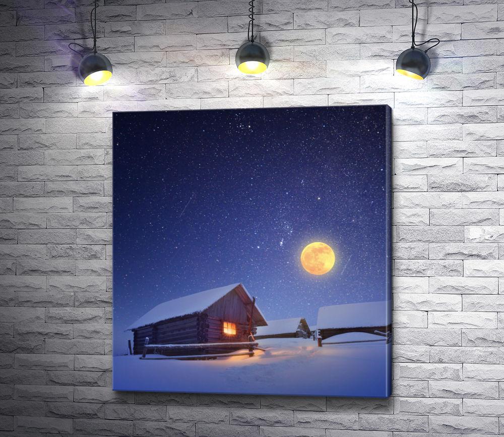 """Картина """"Дом и луна"""""""