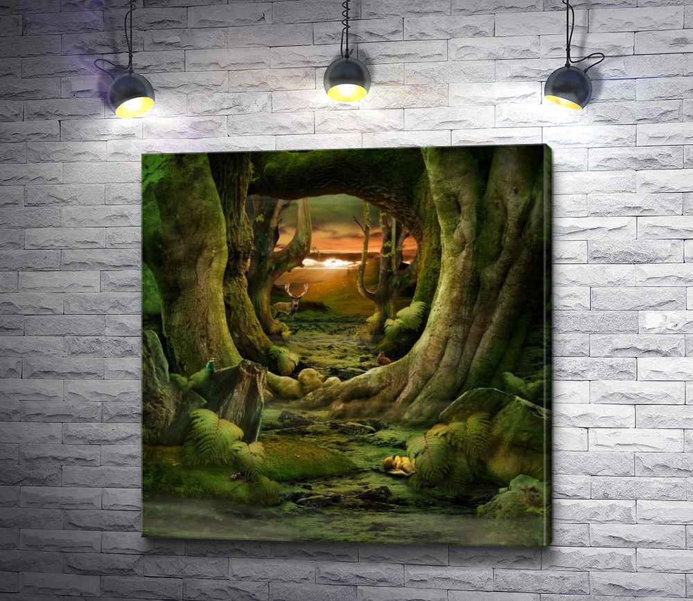 """Картина """"Могучие деревья"""""""