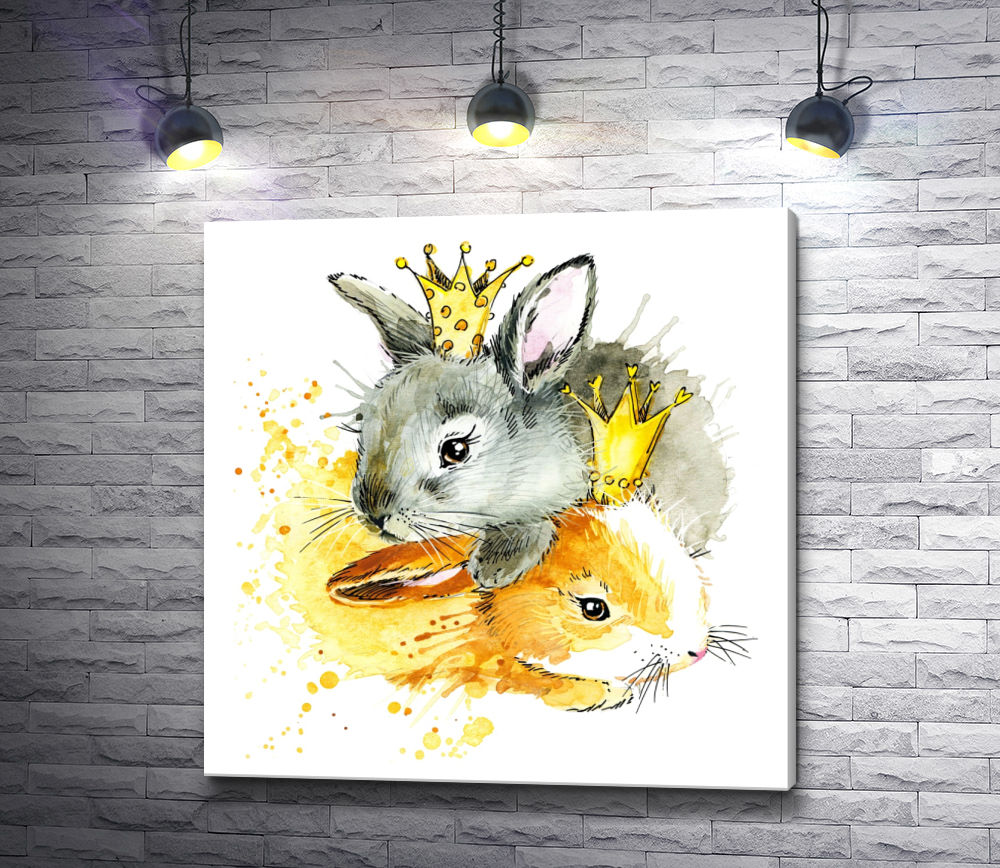 "Картина ""Кролики в коронах"""