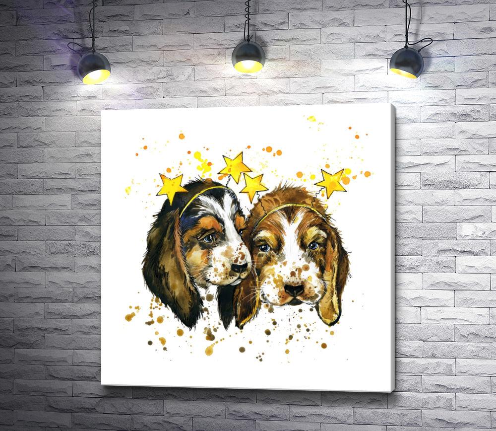 "Картина ""Милые собачки"""
