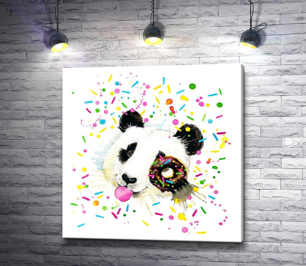 """Картина """"Панда с пончиком"""""""
