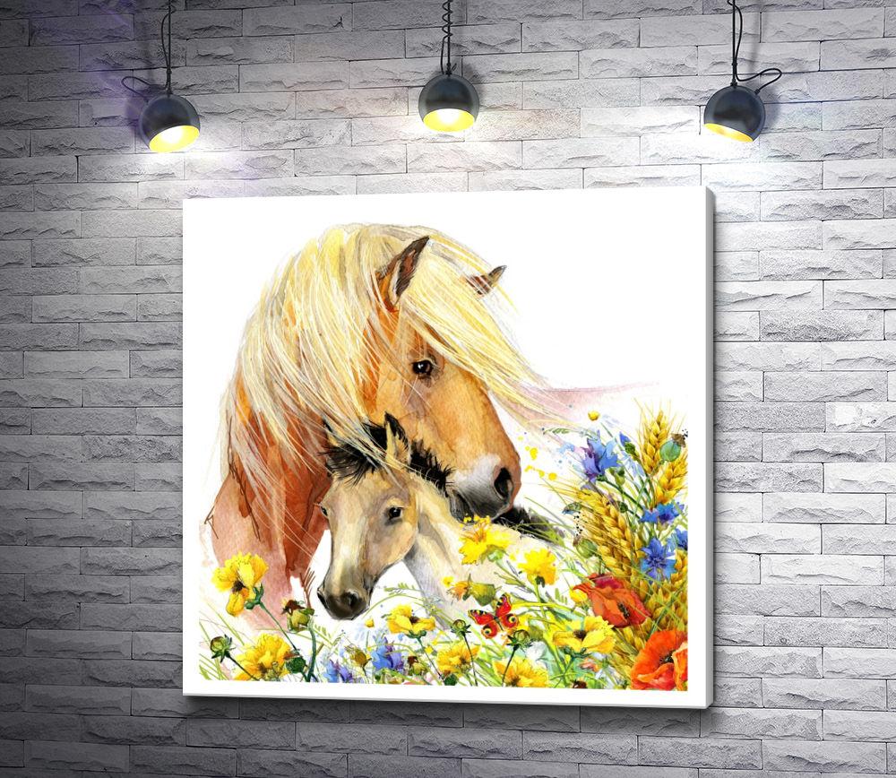 """Картина """"Семья лошадей"""""""