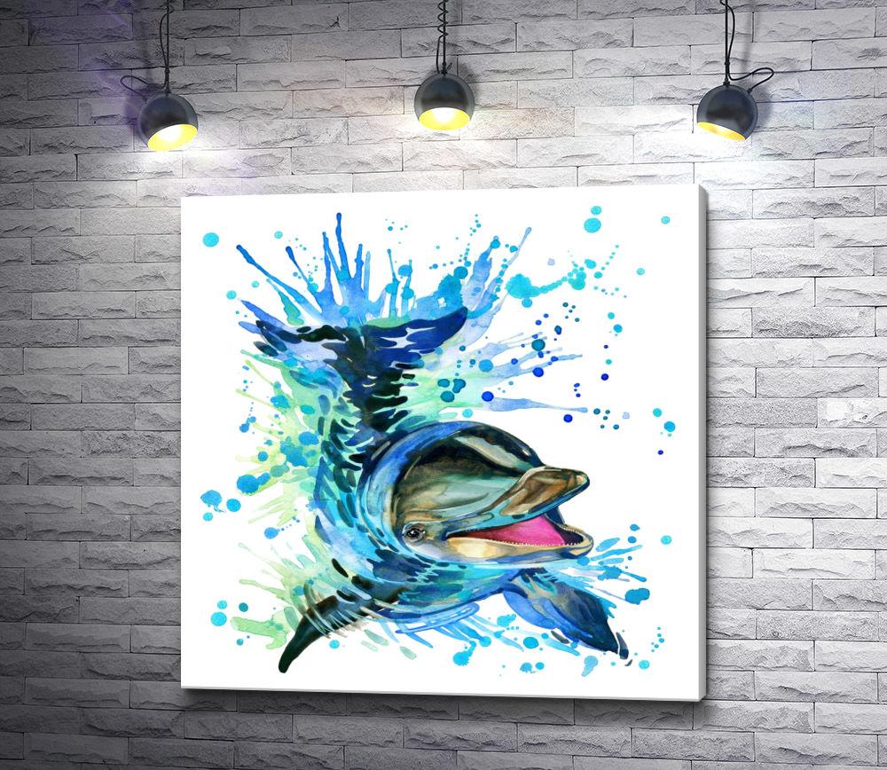 """Картина """"Радость дельфина"""""""