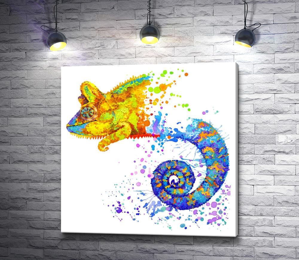 """Картина """"Хамелеон акварель"""""""