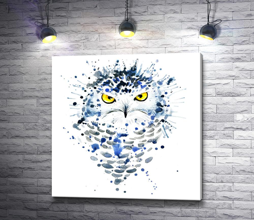 """Картина """"Чернильная сова"""""""