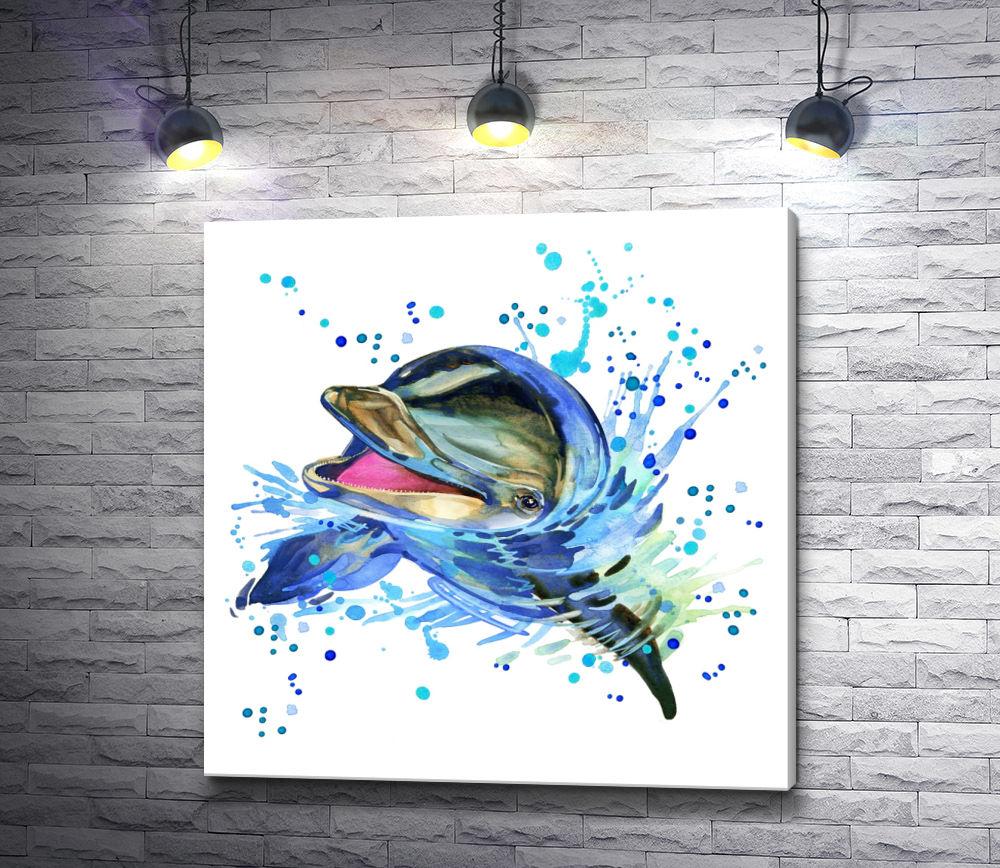 """Картина """"Добрый дельфин"""""""