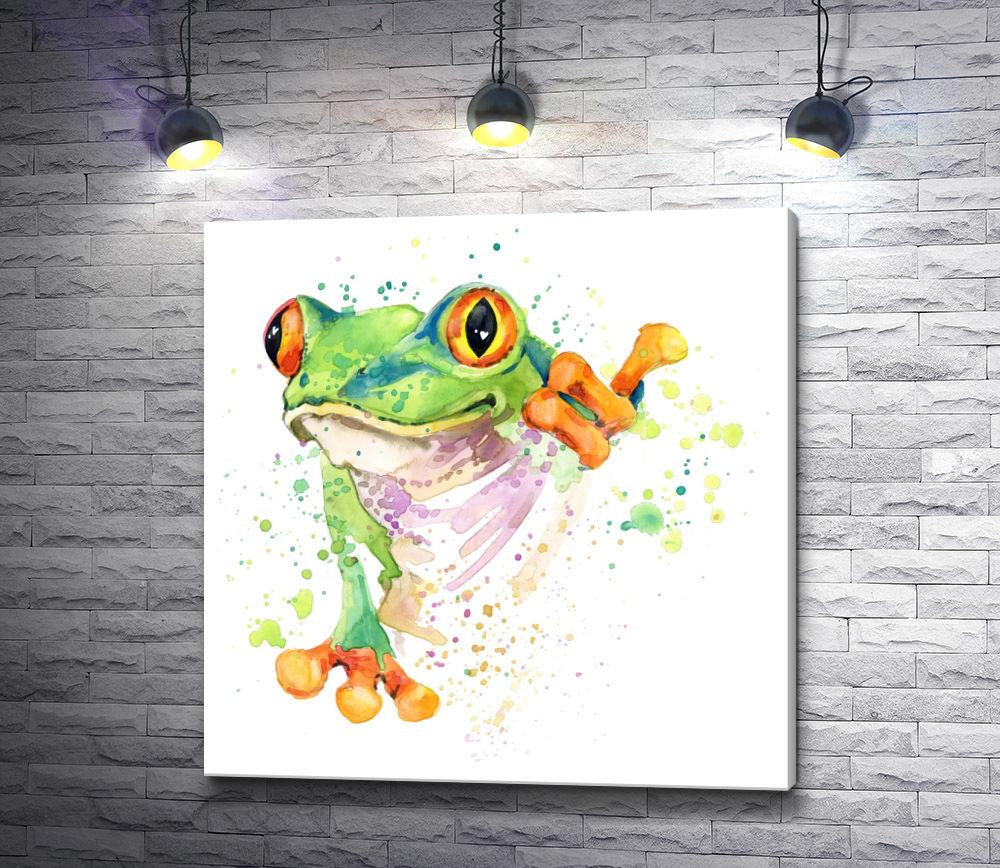 "Картина ""Красочная лягушка"""