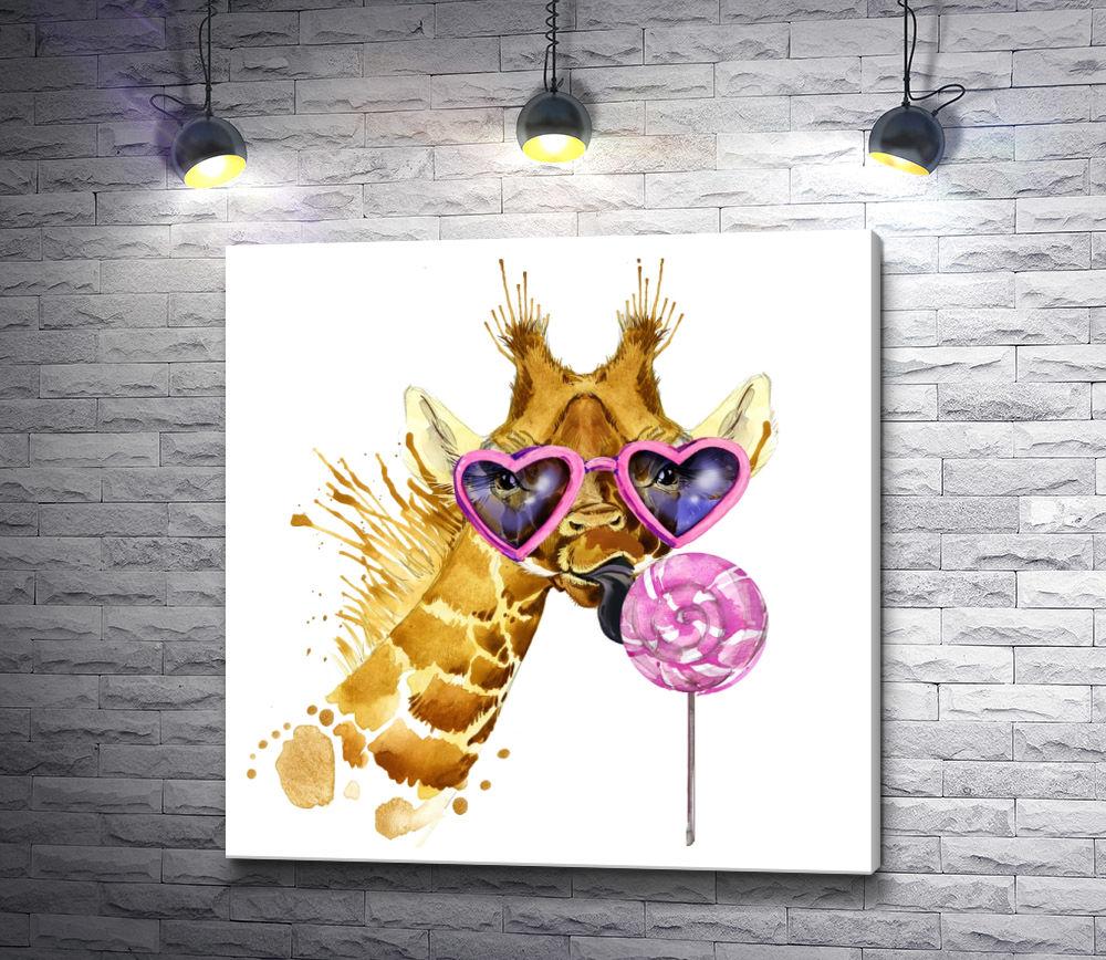 """Картина """"Жираф и лединец"""""""