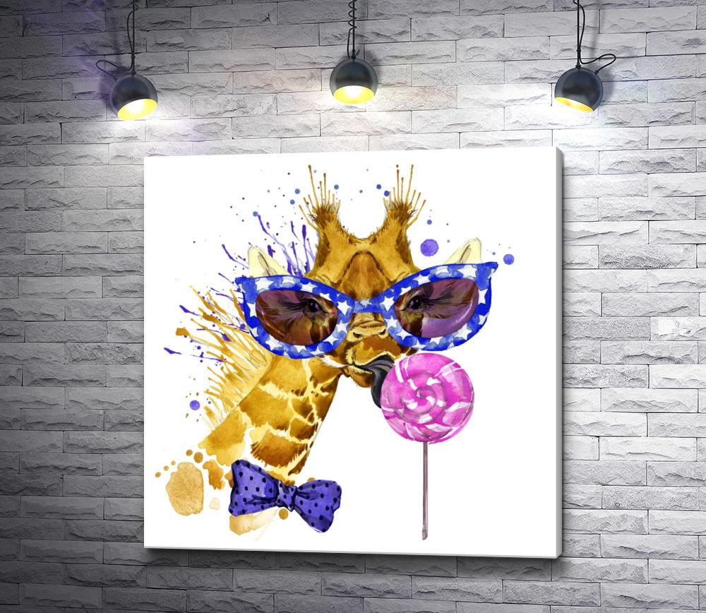 "Картина ""Модный жираф"""