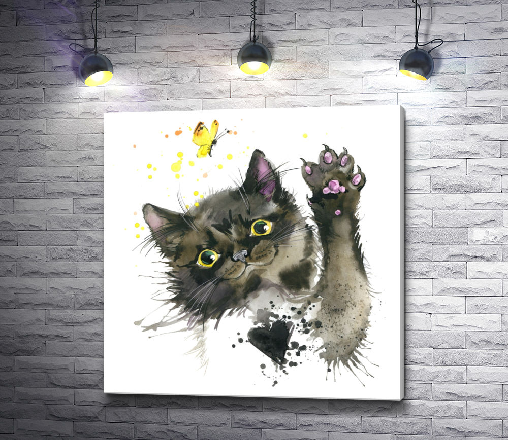 "Картина ""В погоне за бабочкой"""