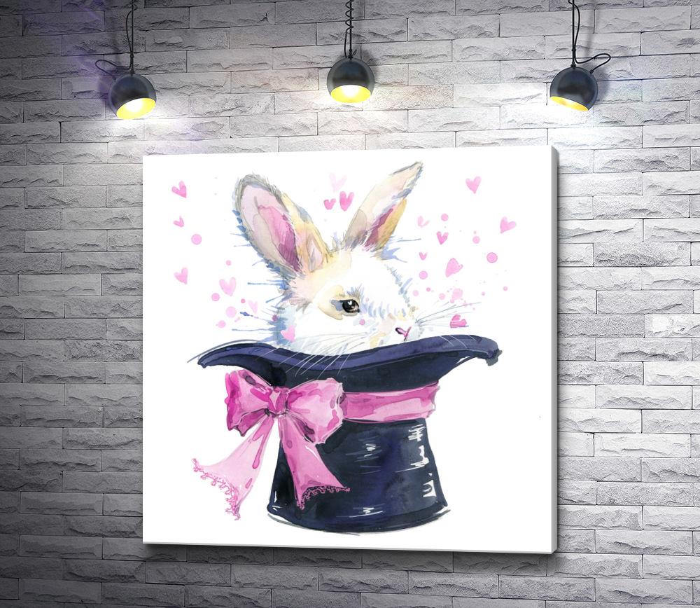 Картина с кроликом и шляпой уважающая себя