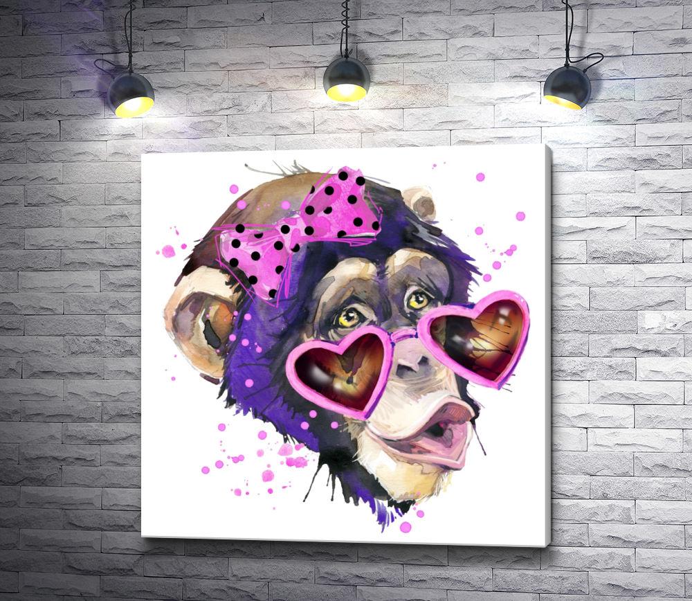 """Картина """"Влюбленная обезьянка """""""