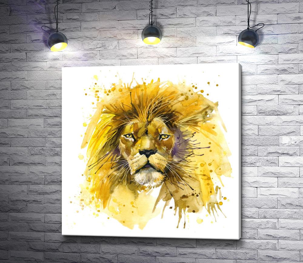 """Картина """"Властный лев"""""""