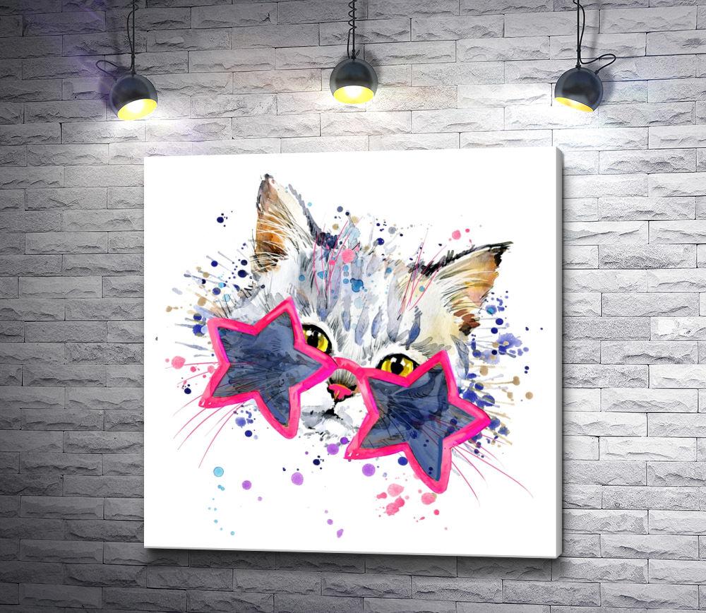 """Картина """"Котенок в стиле диско"""""""