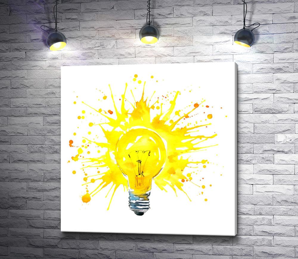 """Картина """"Красочная лампочка"""""""