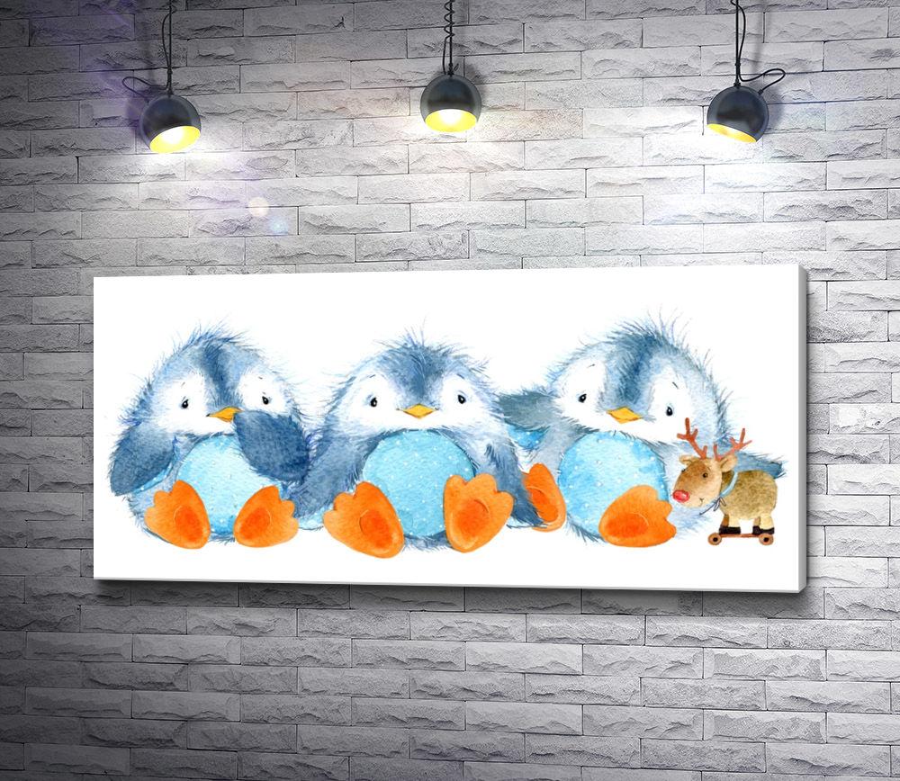 "Картина ""Детки пингвинчики"""