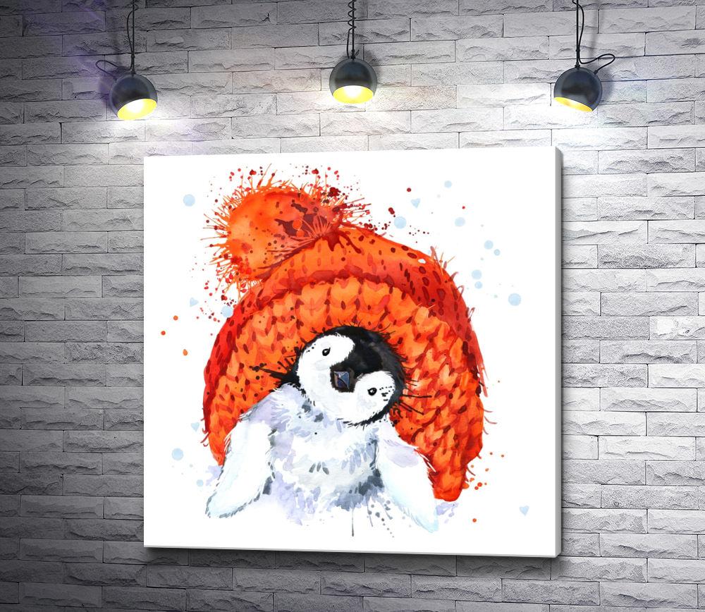 """Картина """"Пингвин в шапочке"""""""