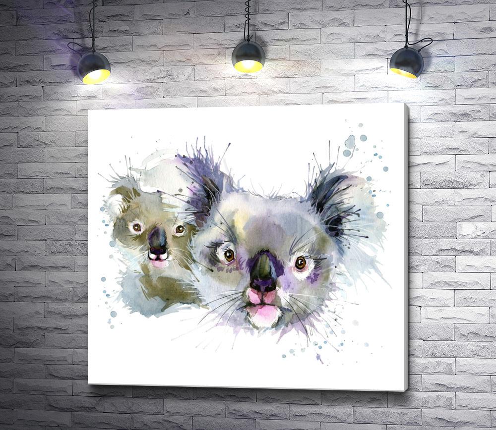 "Картина ""Семья коал"""