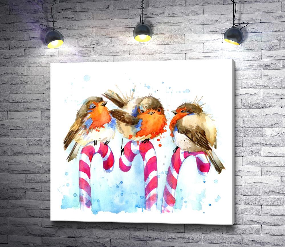 """Картина """"Птичка снегирь"""""""