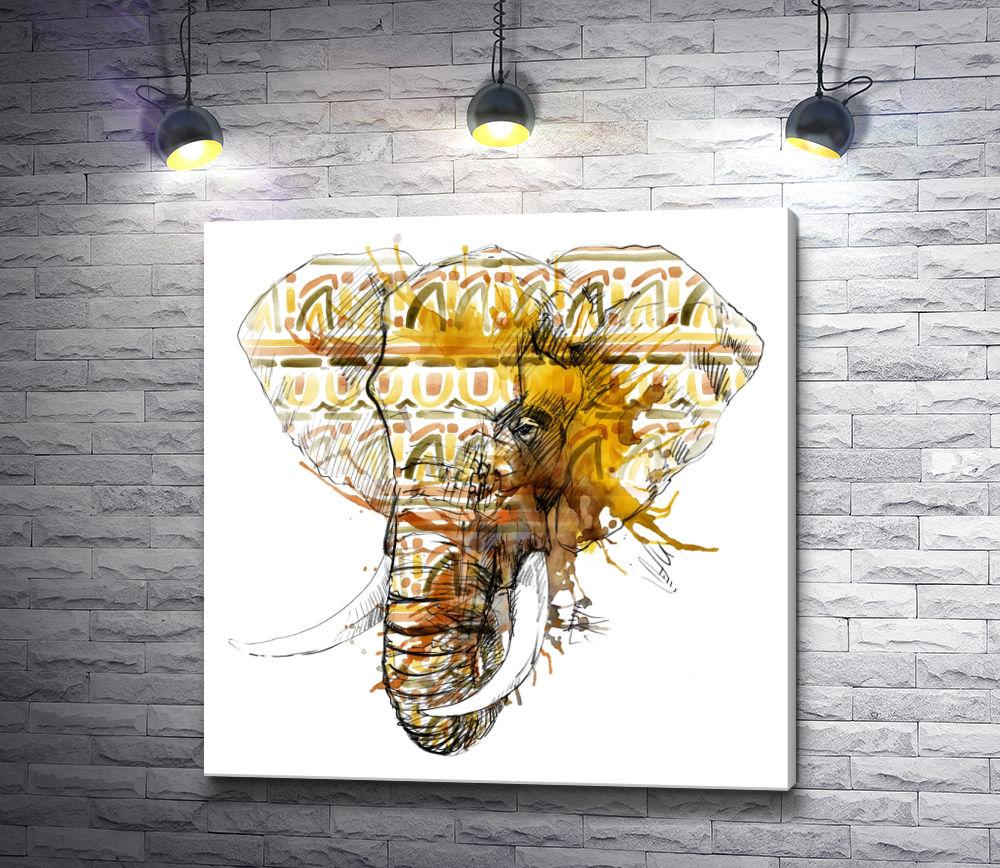 """Картина """"Слон с бивнями"""""""