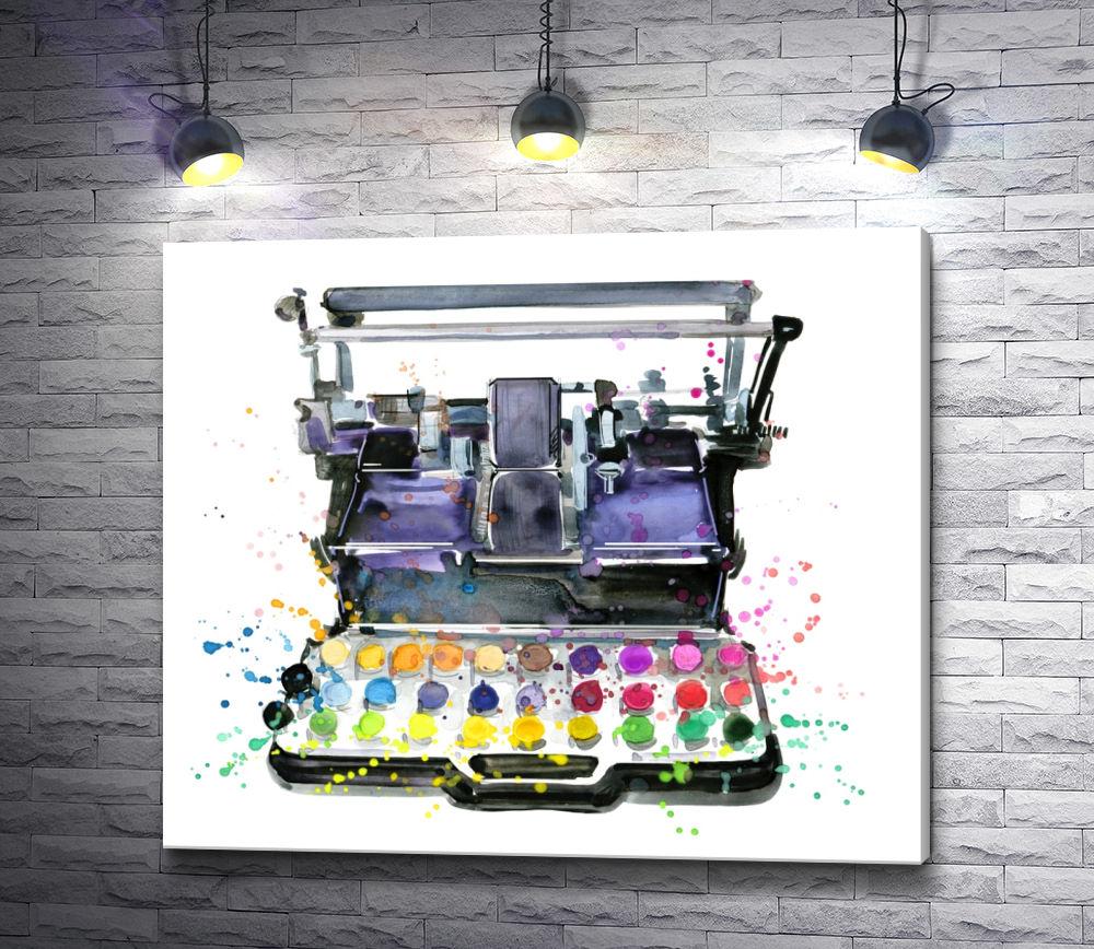 """Картина """"Печатная машинка с красками"""""""