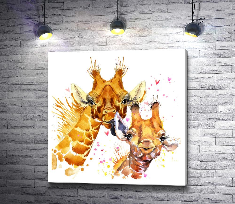 "Картина ""Два жирафа"""