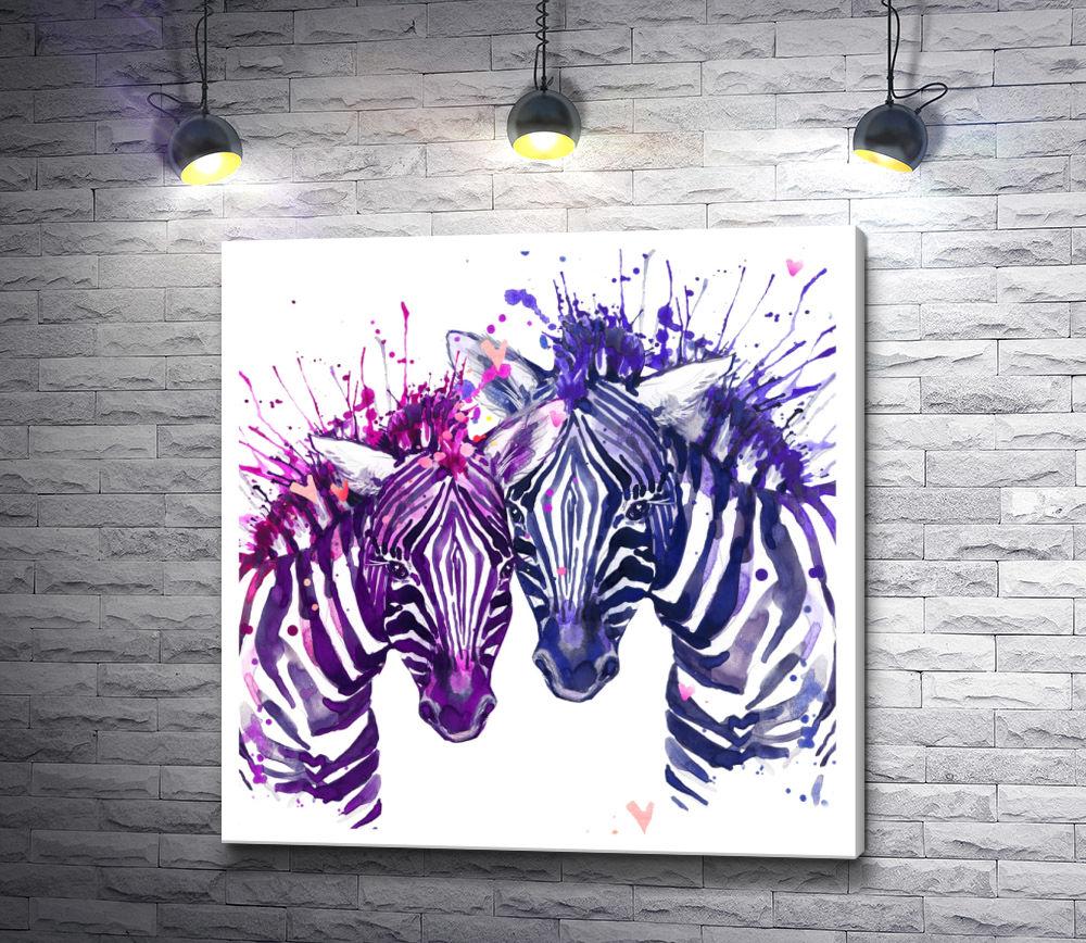 """Картина """"Две зебры"""""""