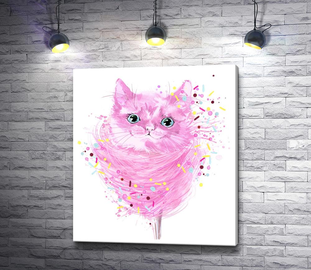 "Картина ""Розовый котенок"""