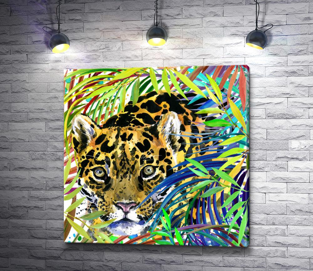 """Картина """"Гепард, притаившийся в джунглях"""""""