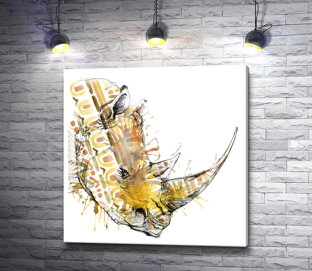"Картина ""Голова носорога"""