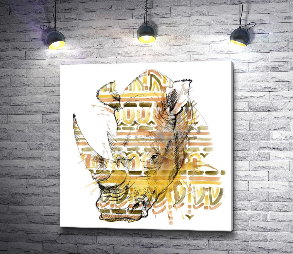 """Картина """"Грозный носорог"""""""